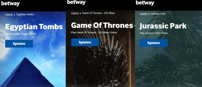 Betway Casino Andere interessante Spiele